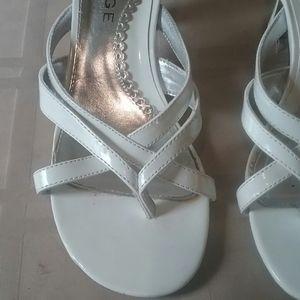 White Rampage Mellie Heels Size 8